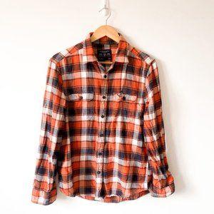 American Eagle Flannel Plaid Button Down Shirt SzM